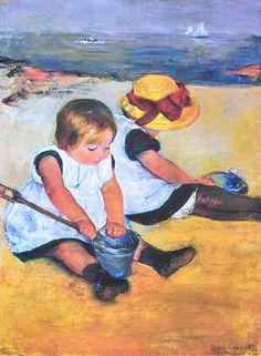 Mary Cassatt, Children at the Beach