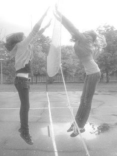 This is the picture that I like very much. It was about 5 years ago in Boszkowo. There was a camp with my class. The girl in the photo, is my friend from lower secondary school. As you can see, it's a block ( especially when the competitive team wants to throw ball into your side)