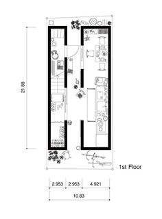 A Life With Large Opening,First Floor Plan