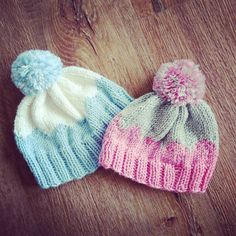 Newborn pompom hats, £10 each. PM me to purchase or place custom order.  #jenstarknits #knitting #knittersofinstagram
