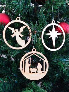 Beautiful wooden nativity ornaments etsy.com/listing/256866881/beautiful-set-of-wood-cutout-nativity