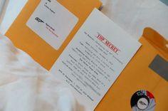 Top secret invitations, james bond party | Be Envied Entertaining