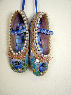 Dancing Mosaic Shoes by PalsCreations, via Flickr