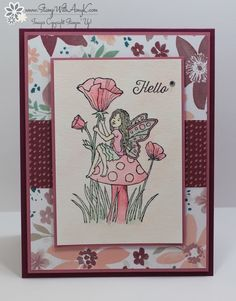 I used the Stampin' Up! Fairy Celebrationstamp setto create my cardfor the Happy Stampers blog hop. We've got a sketchchallengethis week and this is what I made for it. Here is the sketch tha…