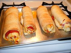 Pepperoni Rolls--SO good!! (easier to  make if you have an extra set of hands to help roll)