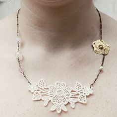 Love Me Do, Lace Bridesmaids, Lace Necklace, Vintage Lace, Chain, Etsy, Shopping, Jewelry, Fashion