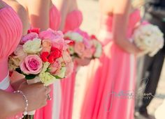 cute flowers, and although you can't see the dresses they look really cute
