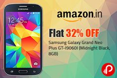 Samsung Galaxy Grand Neo Plus GT-I9060I (Midnight Black, 8GB) | Flat 32% Off – Amazon