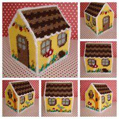 Cute little plastic canvas house