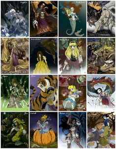Twisted #Disney Princesses // 10 Amazing Artist Renditions of Disney Characters