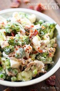 Broccoli Cauliflower Salad | Chef in Training