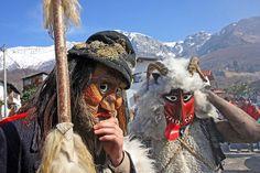Slavic mythological folk-masks