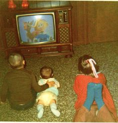 Childhood Memories: vintage photo of kids sitting on shag carpet, watching Rudolph the Red Nosed Reindeer, on console TV My Childhood Memories, Great Memories, 1980s Childhood, Thing 1, My Memory, The Good Old Days, Growing Up, The Past, Old Things