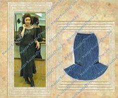 Элегантный вязаный костюм. Часть 1 - юбка