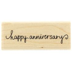 Stampabilities Happy Anniversary Rubber Stamp | Shop Hobby Lobby