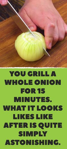 You grill a whole onion for 15 minutes. What it looks likes like after is quite simply astonishing. Roasted Onions, Baked Onions, Grilling Recipes, Pellet Grill Recipes, Smoker Recipes, Steak Recipes, Cooking Recipes, Bbq Grill, How To Grill Steak