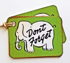 Gift Tags Label Elephant by wildabouttags on Etsy, $3.50