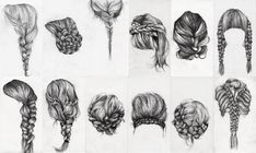 hair styles sketch - Google Search