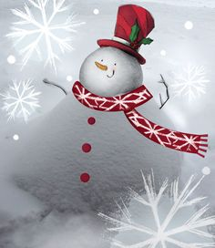 Snowman by Jennifer A. Bell, via Flickr
