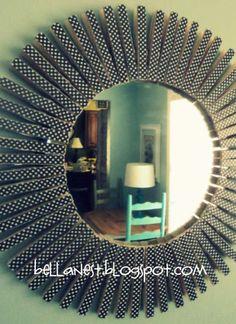 Miroir déco avec des pinces à linge. 20 Projets créatifs avec des pinces à linge en bois