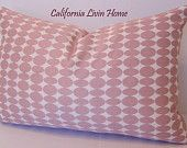 "Dwell Studio Almonds in Blush Pillow Cover / 12"" x 18"" / Robert Allen Fabric / Designer Pillow"
