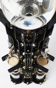 dutch lab akma devil steampunk coffee machine supervillains designboom