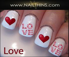 LOVE Nail Decal Valentine Nail Design NAILTHINS
