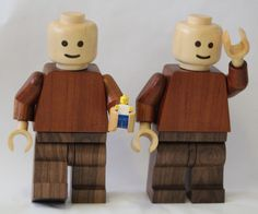 These are some giant Lego men that I have made. They have all the movements, clips and operations that a standard Lego man has. They are to scale (1 : 6.25). The timbers I have use are Huon pine, Australian red cedar and American walnut. More works @ www.facebook.com/pages/Simon-Beggs-Wood-Turning/17...