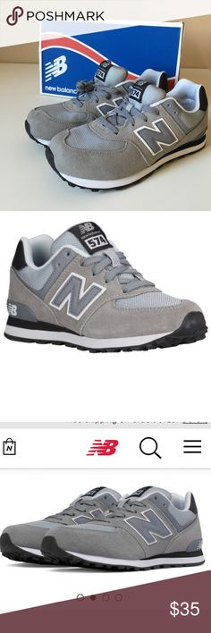 New Balance 574 Sneaker New Balance 574 sneaker in Gray/Black Combo. Brand New and never worn. These are a Youth 7, but would also fit 8.5 Women's. Work great for male or female! New Balance Shoes