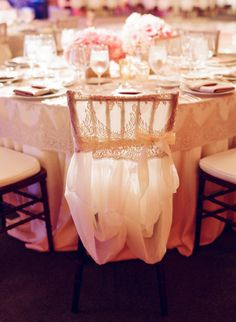 Pretty chair cover. Photography by Elizabeth Messina / elizabethmessina