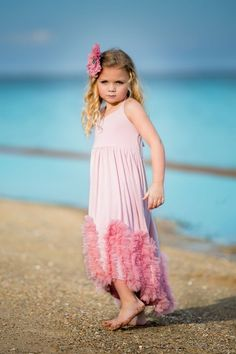 Adorable Essential's High Low Maxi Ruffle Dress   Please check measurements before ordering. All sales are final. No returns or exchanges. Free Shipping on all U.S. orders.  Measurements 	18m-24m 	2-3 	3-4 Chest 	9 	10 	10.5 Length front of dress 	19.5 	22.5 	24 Length back of dress 	23.5 	25.25 	27.5,  ORDER Here ---- https://goo.gl/lLmRzE SHOP All Products ----http://adorableessentials.com   Free Shipping on All US Orders!