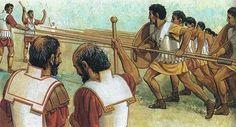 Philip II training his army