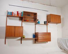 Mid Century Danish Modern CADO Wall Unit in Teak by Poul Cadovius on Etsy, $2,850.00