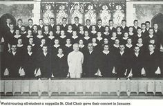 St. Olaf Choir performed for students January 1940.  From the 1940 Oregana (University of Oregon yearbook).  www.CampusAttic.com