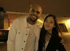 With Chris Brown