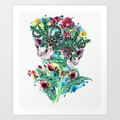 Check out society6curated.com for more! @society6 #illustration #wall #apartment #decor #homedecor #buy #shop #sale #shopping #apartmentgoals #sophomoreyear #sophomore #year #college #student #home #house #gift #idea #art #prints #skull #skulls #floral #flowers #flower #botanical #cool #digital #digitalart #death #dead