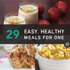 Quick Healthy Meals for 1-2 People! Because not everyone needs recipes to feed 4 people. #soloapt