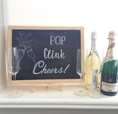 Champagne theme chalk board