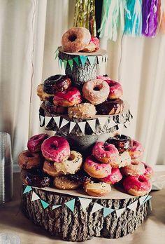 Doughnut wedding cake - Cheap Wedding Cakes