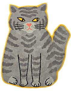 This chubby cat rug may be grouchy through and through, but the intricate hand-tufted details and exclusive design by Alice Oehr will certainly put a smile on your face.