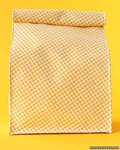Oilcloth Crafts: Lunch Bags & Video | Martha Stewart