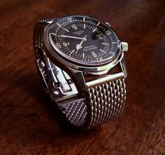Name:  Longines LLD on Staib mesh 22mm mesh polished robust structure with Safety