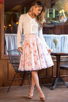 Swans Style is the top online fashion store for women. Shop sexy club dresses, jeans, shoes, bodysuits, skirts and more. Pink Outfits, Modest Outfits, Skirt Outfits, Classy Outfits, Pretty Outfits, Dress Skirt, Dress Up, Midi Skirt, Jw Fashion