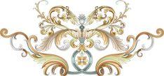 Baroque Pattern, Album Design, Border Design, Ceiling Lights, Ornaments, Frame, Prints, Banners, Flowers