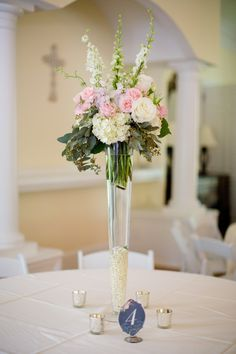 Another one of the gorgeous table centerpieces for the Paul Wedding…