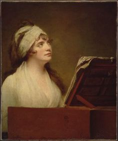 ♪ The Musical Arts ♪ music musician paintings - Joseph Wright   Portrait of Mrs. Francis Boott, 1790-3