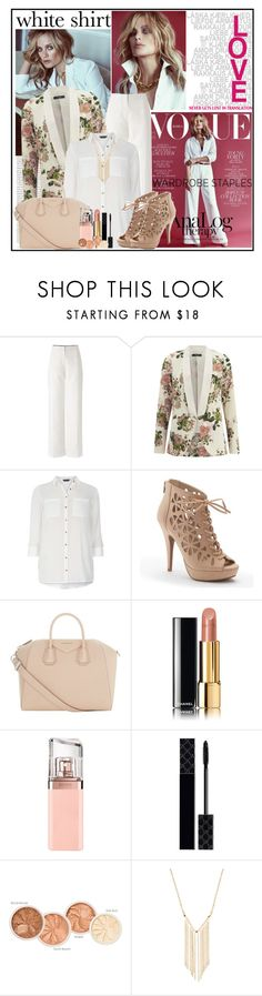 """Wardrobe Staples: The White Shirt"" by cindy88 ❤ liked on Polyvore featuring Oris, VILA, Dorothy Perkins, Apt. 9, Givenchy, Chanel, HUGO, Gucci, Gemelli and WardrobeStaples"