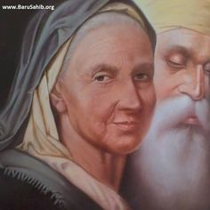 Beautiful Artwork of Bebe Nanaki & Guru Nanak Dev Ji by S. Gursewak Singh