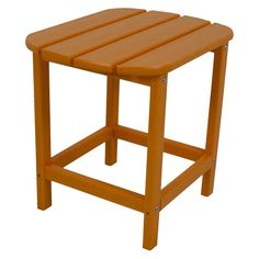 Polywood South Beach Patio Side Table - Orange