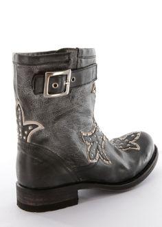 Biker Boots Chiquita Vebran Vintage schwarz: SENDRA BOOTS, Spain #SendraBoots